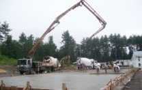 Pumping a concrete slab