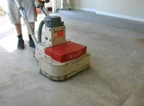 Cleaning garage floors to prepare for a garage floor coating for Concrete floor cleaning machine rental