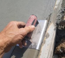 Flat Concrete edging tool