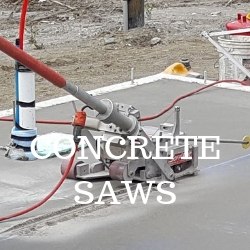 Concrete floor saws