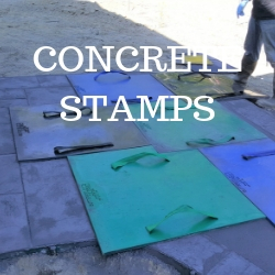 Concrete stamps