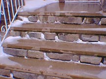 heated prefab concrete steps