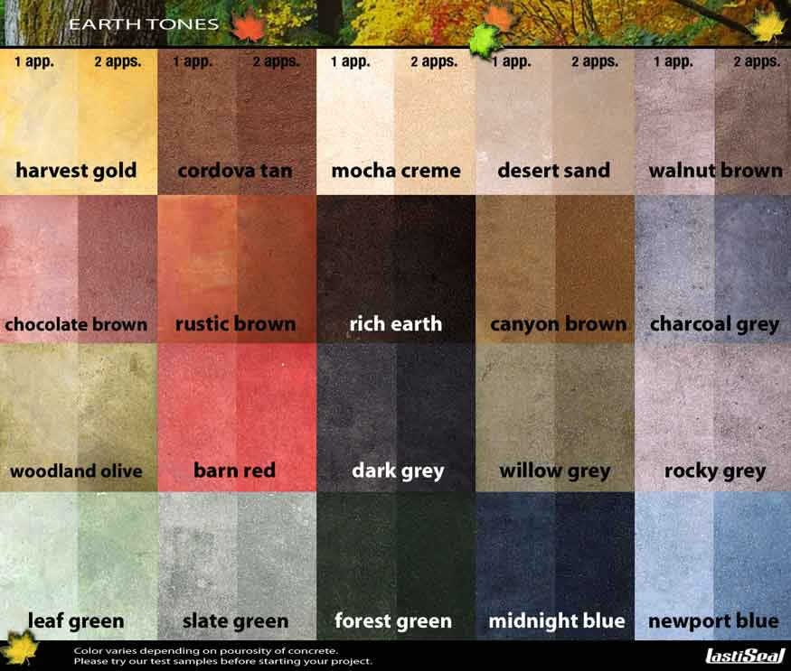 concrete dye color chart