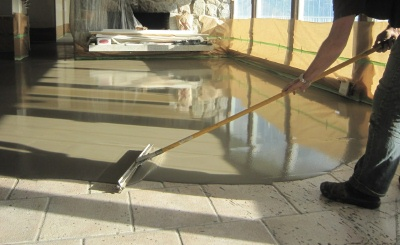 concrete microtopping and skim coat