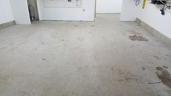 Before painting the floor with epoxy