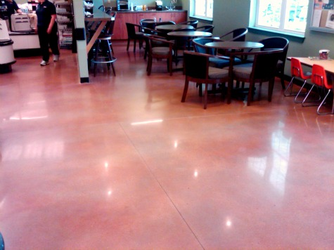 polished concrete flooring