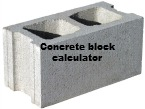 Concrete block calculator