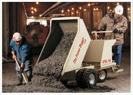 Concrete Buggy - Using A Concrete Power Buggy To Pour A