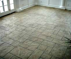 Interior stamped concrete floor