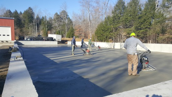 Finishing concrete with Whiteman power trowels