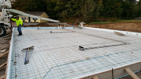 A Raft SlabonGrade foundation can be as simple as a 4 thick slab with no reinforcement and a shallow perimeter rib to an 8 thick slab heavily reinforced with