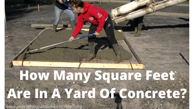 How many square feet are in a yard of concrete