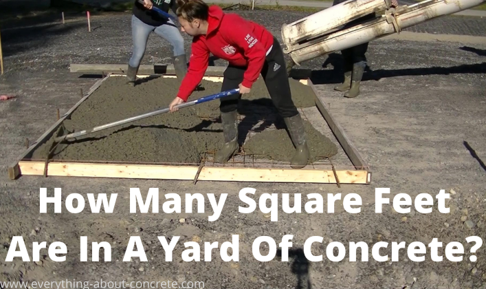 how many square feet in a yard of concrete