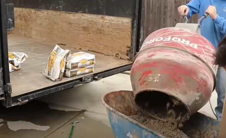 how to mix concrete in an electric mixer