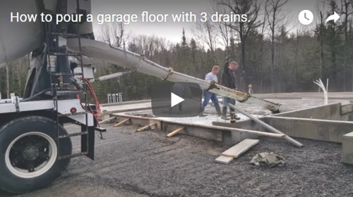 How to pour a garage floor with a center drain