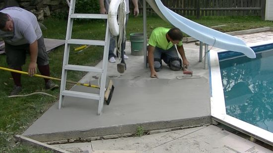 How to resurface a concrete pool patio
