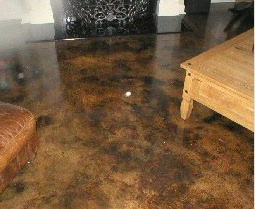 microtopping concrete overlay with a stained finish