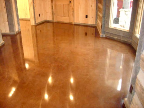 Polished concrete flooring how to polish concrete for How to shine cement floor