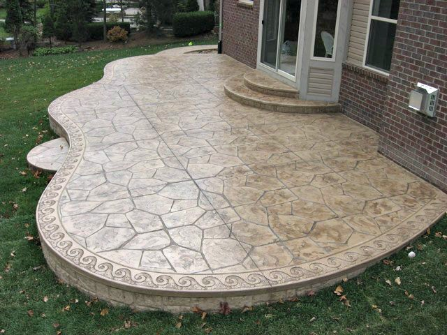 how decorative can a patio be - Concrete Patio Designs