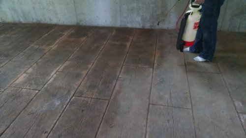 How to re-seal stamped concrete