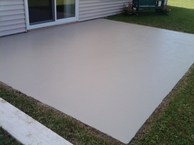 Concrete Patio After An Overlay Was Lied