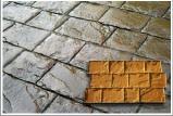 roman cobble concrete stamp