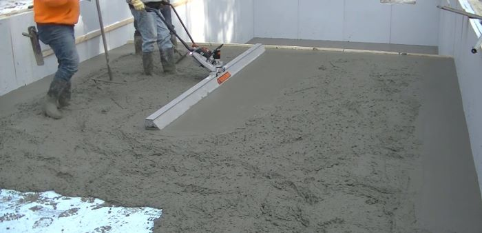 MBW Screedemon battery powered screed