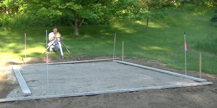 how to pour concrete slab