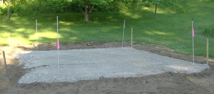 how to pour concrete slab prep