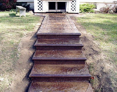 concrete stairs and walkway