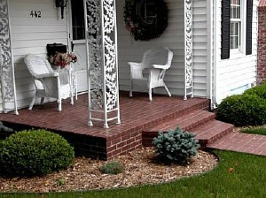 concrete porch steps