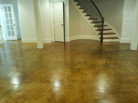 Basement floor options making your basement concrete floor look great - Cement basement floor ideas ...