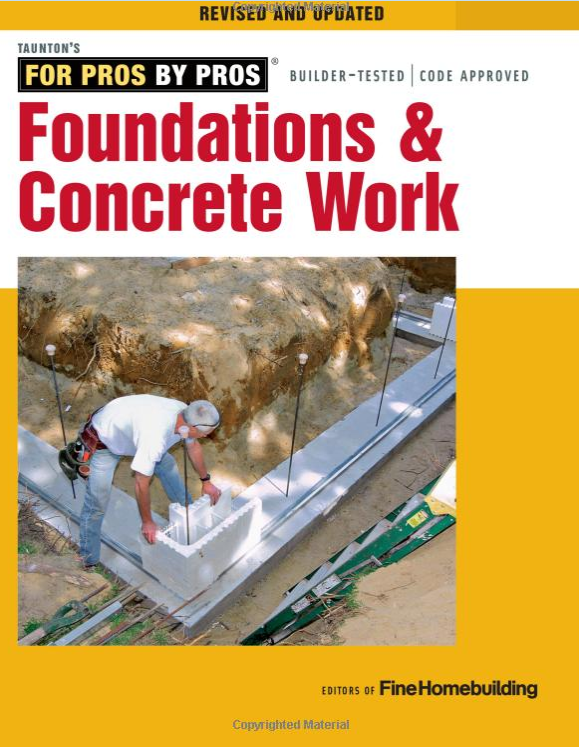Foundations and concrete work book