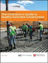 Contractors guide to concrete construction book