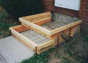 building concrete steps