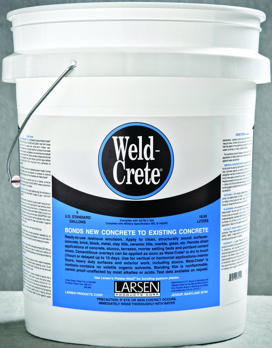 Weld-Crete concrete bonding agent