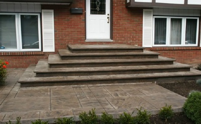 concrete steps