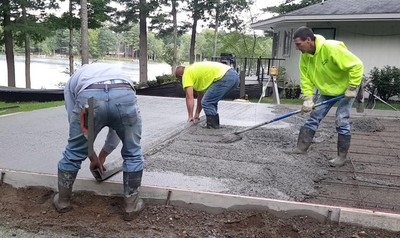 Tools needed to build a concrete slab