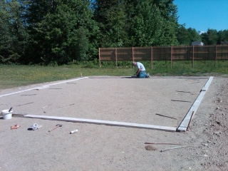 forming a concrete slab