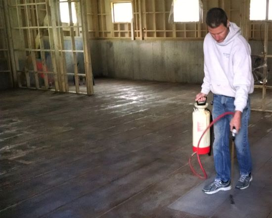 Basement floor sealer