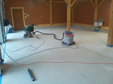 Cleaning garage floors to prepare for a garage floor coating for How to clean garage floor