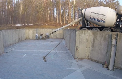 Using a concrete chute