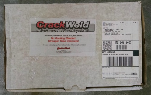Concrete floor crack repair kit