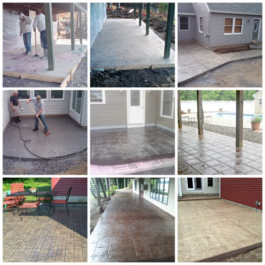 concrete patio designs by Day's Concrete Floors, Inc