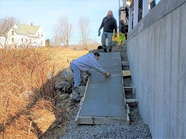 How to build a concrete ramp