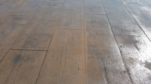 Cleaned and sealed decorative stamped concrete