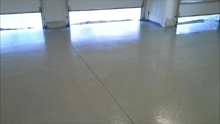 how to install a decorative epoxy chip floor