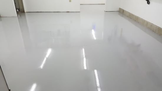 Paint your concrete floor with a garage floor epoxy