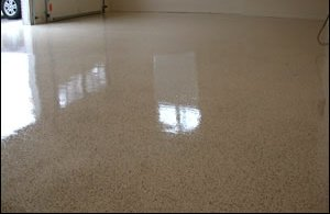 garage floor 2-part 100% solids epoxy coating