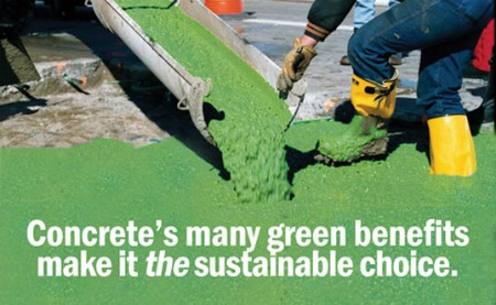 Building green with concrete